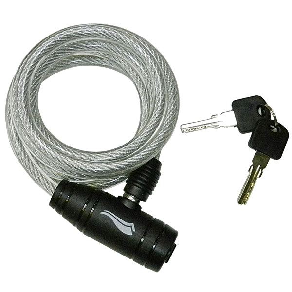 Bicycle Cable Coil Lock 180cm - Silver