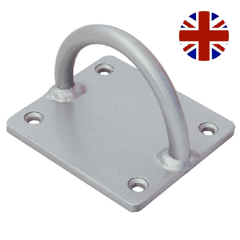 Heavy Duty Ground Anchor/Lock Loop Silver