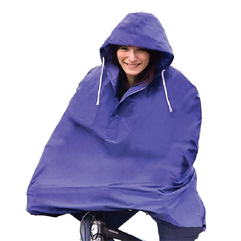 Cycling Rain Cape / Poncho Blue