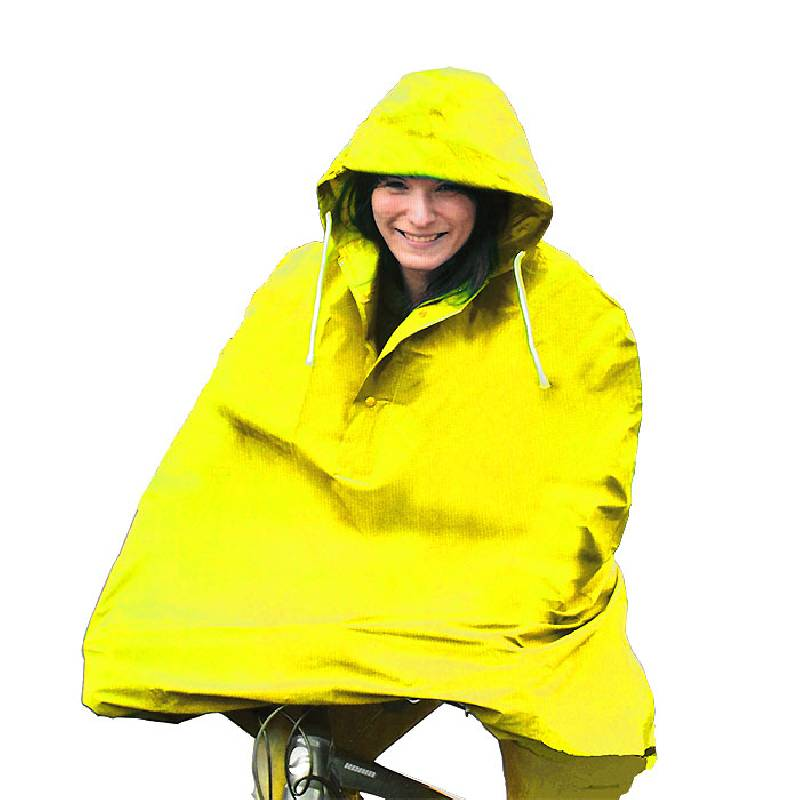 Cycling Rain Cape / Poncho Yellow