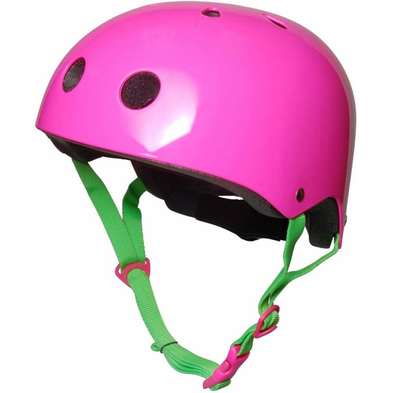Childs Neon Pink Cycle Helmet - 53-58cm