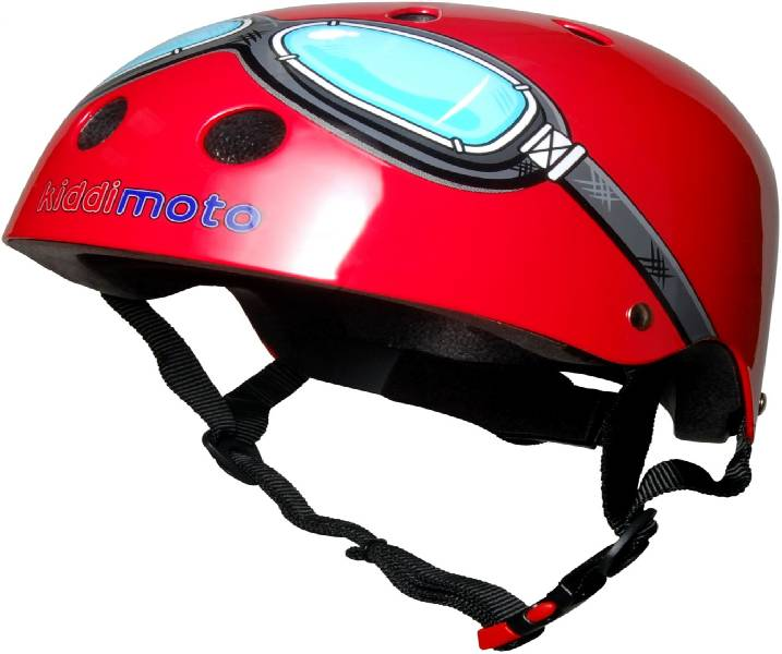 Childs Goggle Cycle Helmet - Red 53-58cm