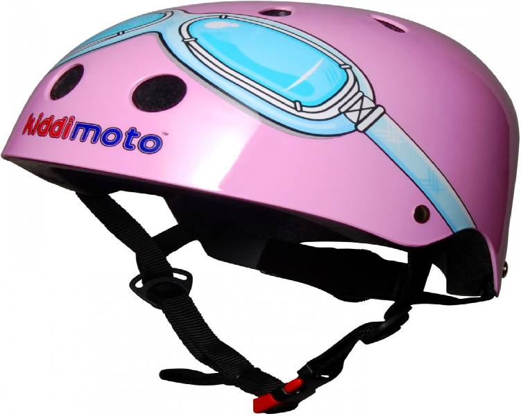 Girls Goggle Cycle Helmet - Pink 48-53cm
